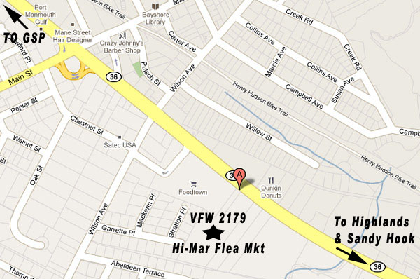 VFW Post 2179 - 1 Veterans Lane - Route 36, Port Monmouth, NJ 07758